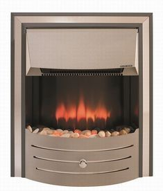 Widney Plaermo Grey/Chrome Electric Fire