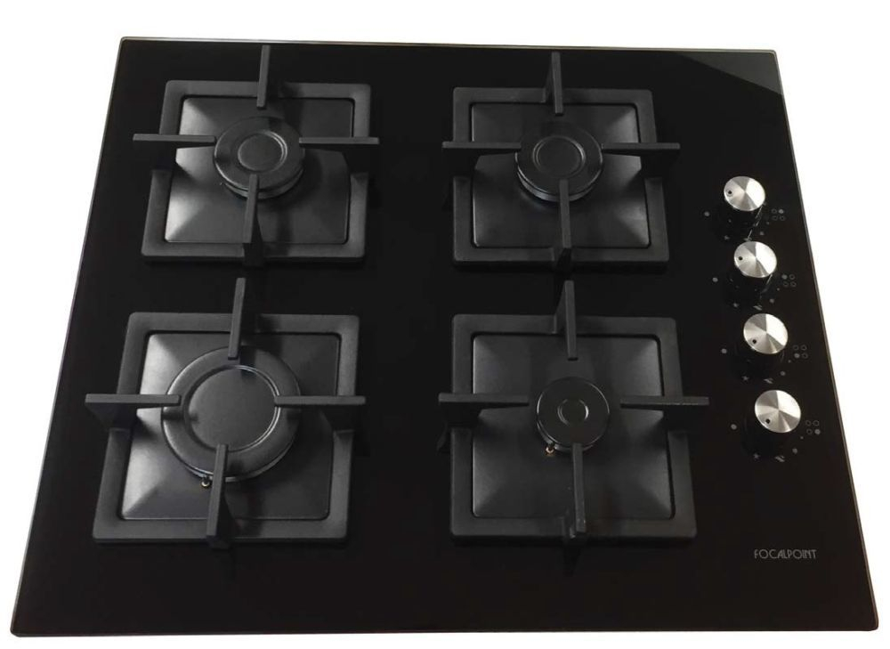 Focalpoint Glass Panel Bulit In Hob LPG - Black
