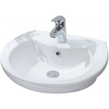 Lecico Atlas 50cm Semi Recessed Basin