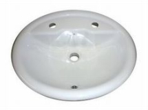 Atlas Sarah Vanity Basin 2 Tap Hole - White