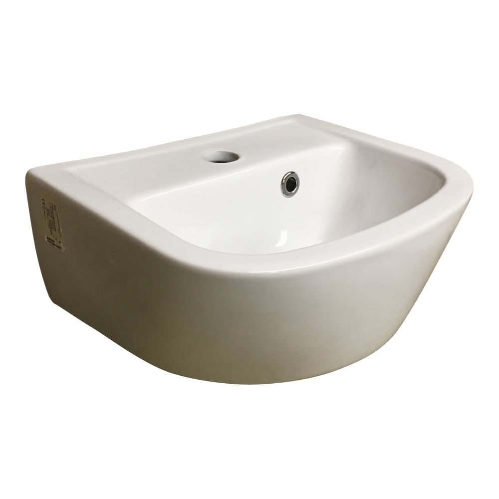 Lecico Geo Cloakroom Basin 350mm Centre Tap Hole - White