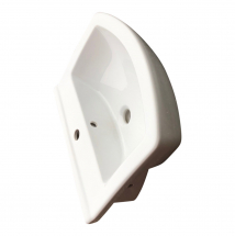 Cersanit Olimpia 550mm Semi Recessed Basin 1 Tap Hole
