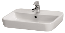 Cersanit Caspia Square 600mm Sit On Basin 1 Tap Hole
