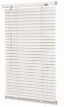 White aluminium venetian blind 750mm x 1600mm drop.
