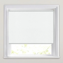 White PVC Roller Blind 610mm x 1150mm