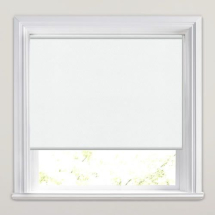 White PVC Roller Blind 860mm x 1150mm