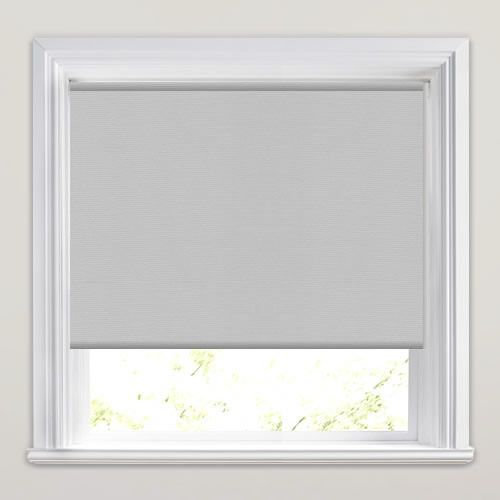 Grey PVC Roller Blind 610mm x 1150mm
