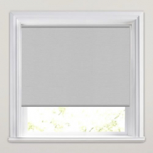 Grey PVC Roller Blind 860mm x 1150mm