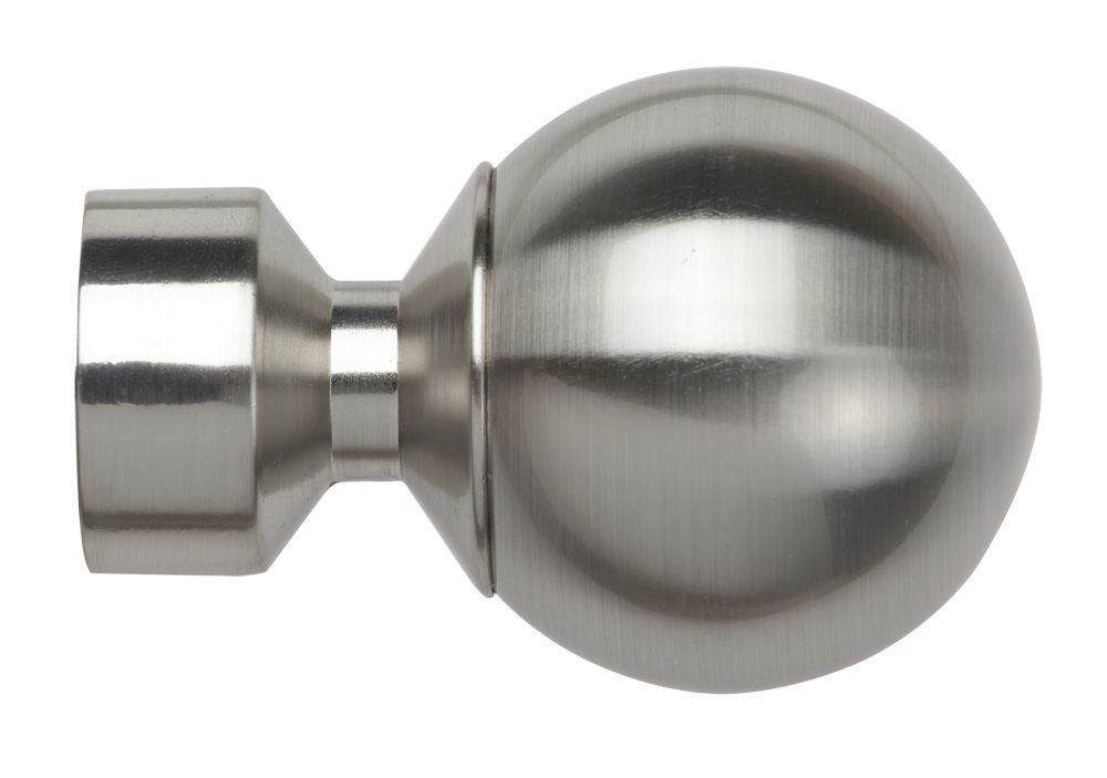 28mm Satin Silver Vista End Cap Finial