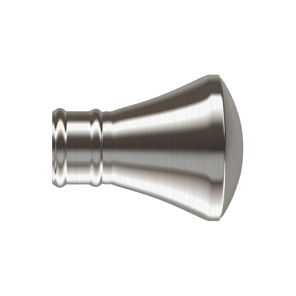 28mm Satin Silver Trumpet End Cap Finial