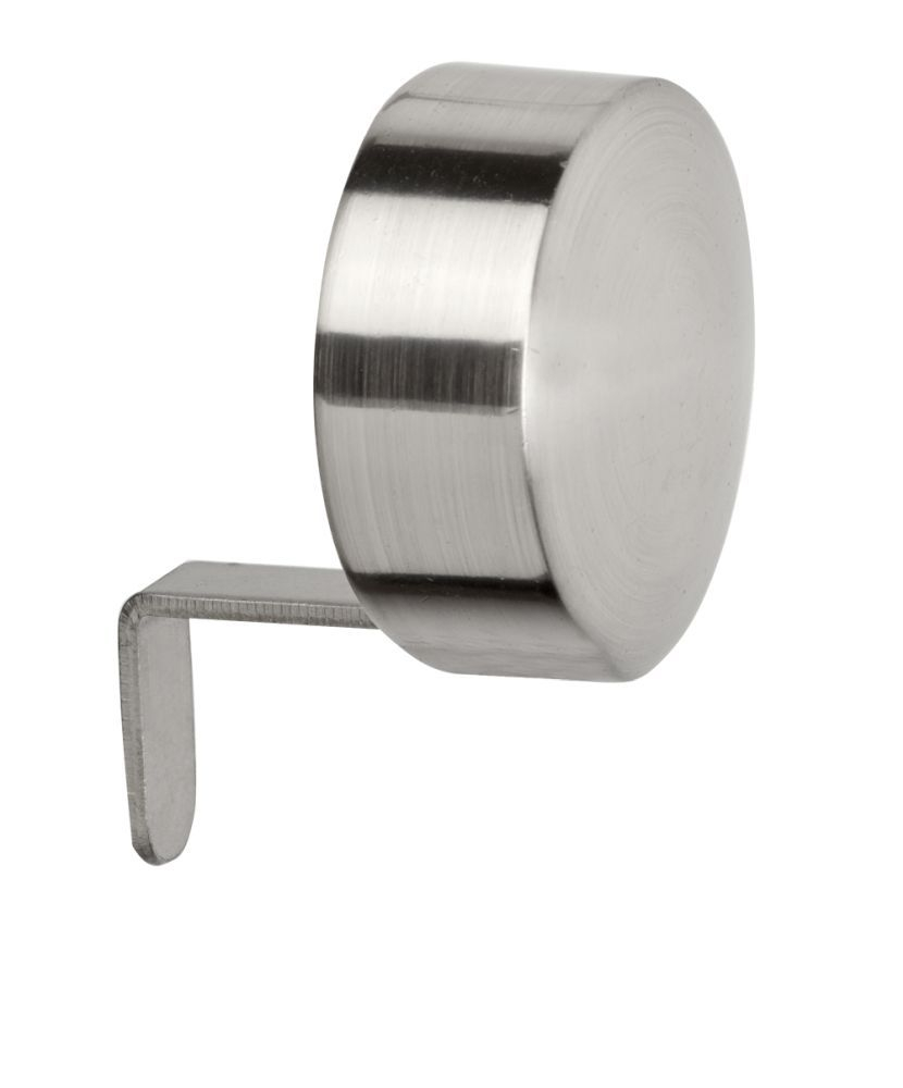 28mm Satin Silver Blank End Cap