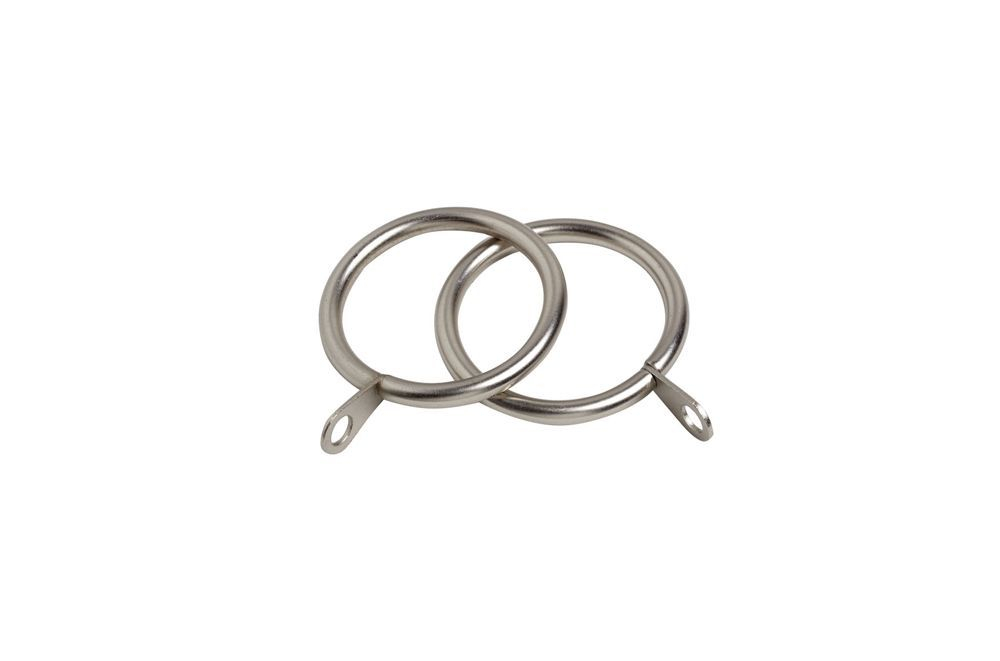 28mm Satin Silver Standard Curtain Rings