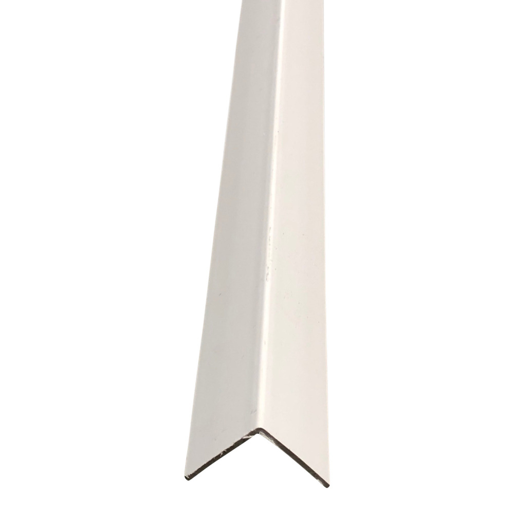 25mm x 25mm Plastic Angle Trim 2.44m White