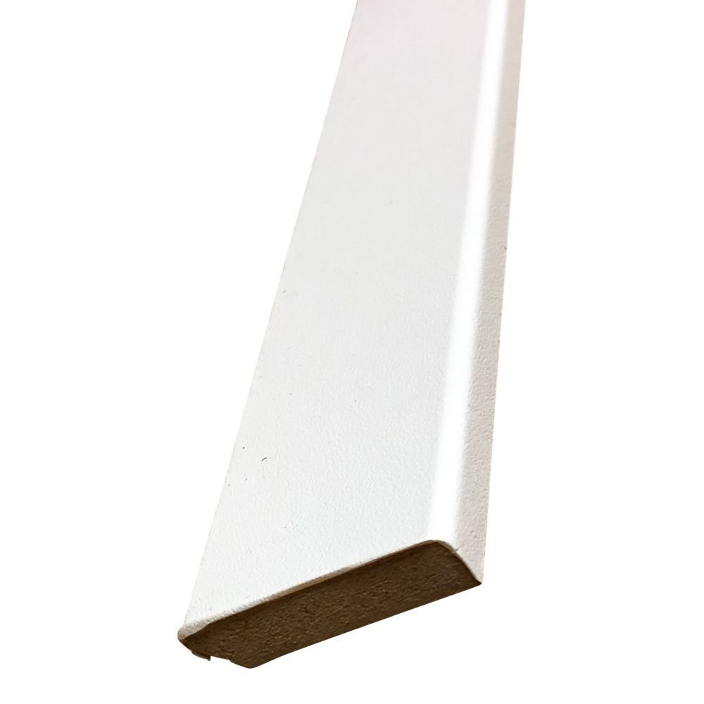 White PVC Veneered MDF Skirting 40 x 9 - 2440mm