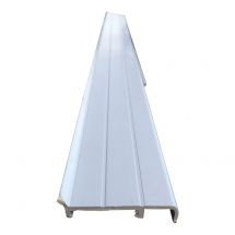 White Plastic Skirting/Coving with Rubber & Base 2.5 Metre