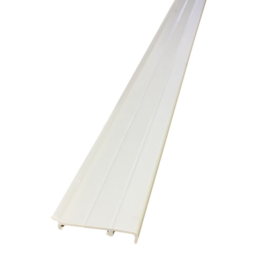 Cream Plastic Skirting/Coving with Rubber & Base 2.5 Metre