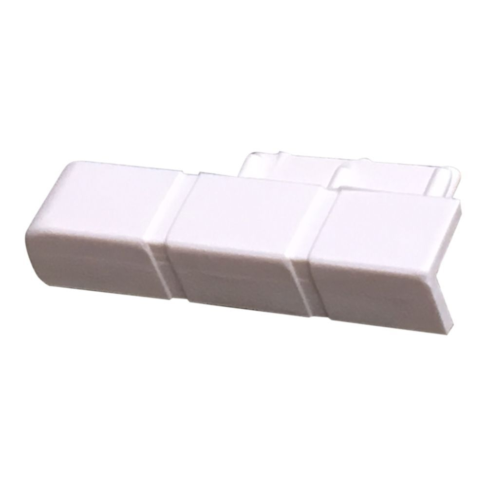 Cream Left Hand End Cap for Skirting/Coving CAP203
