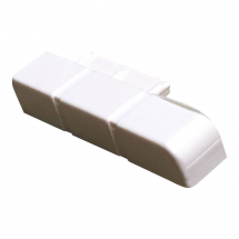 Cream Right Hand End Cap for Skirting/Coving CAP203