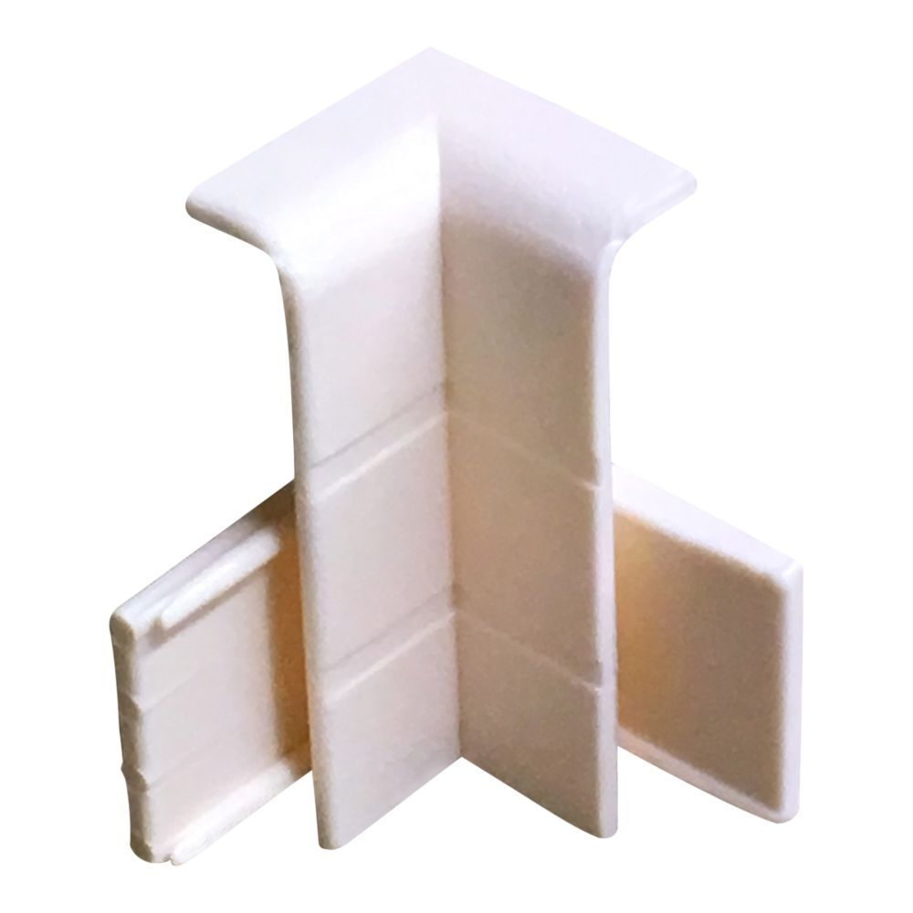Cream Internal Corner Cap For Skirting/Coving CAP203