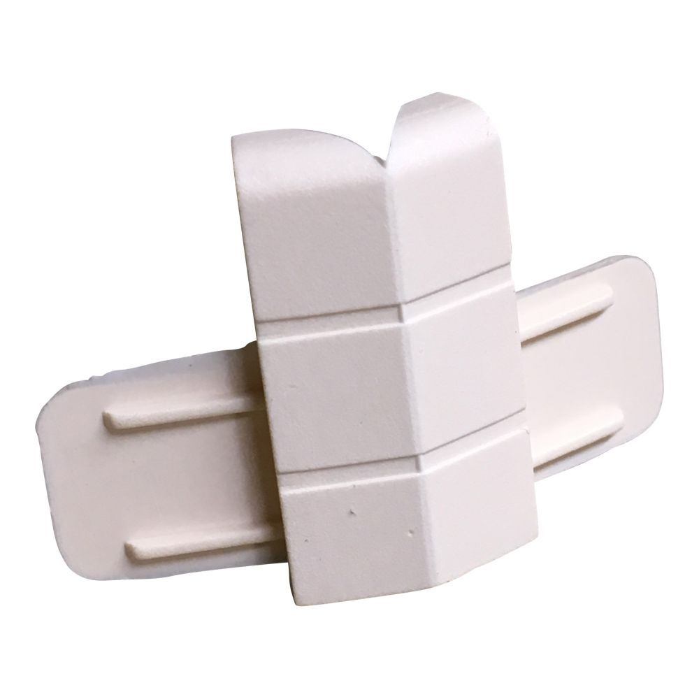 Cream External Corner Cap For Skirting/Coving CAP203