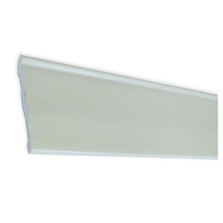 Self adhesive blown PVC 48mm skirting trim In White 2.5M
