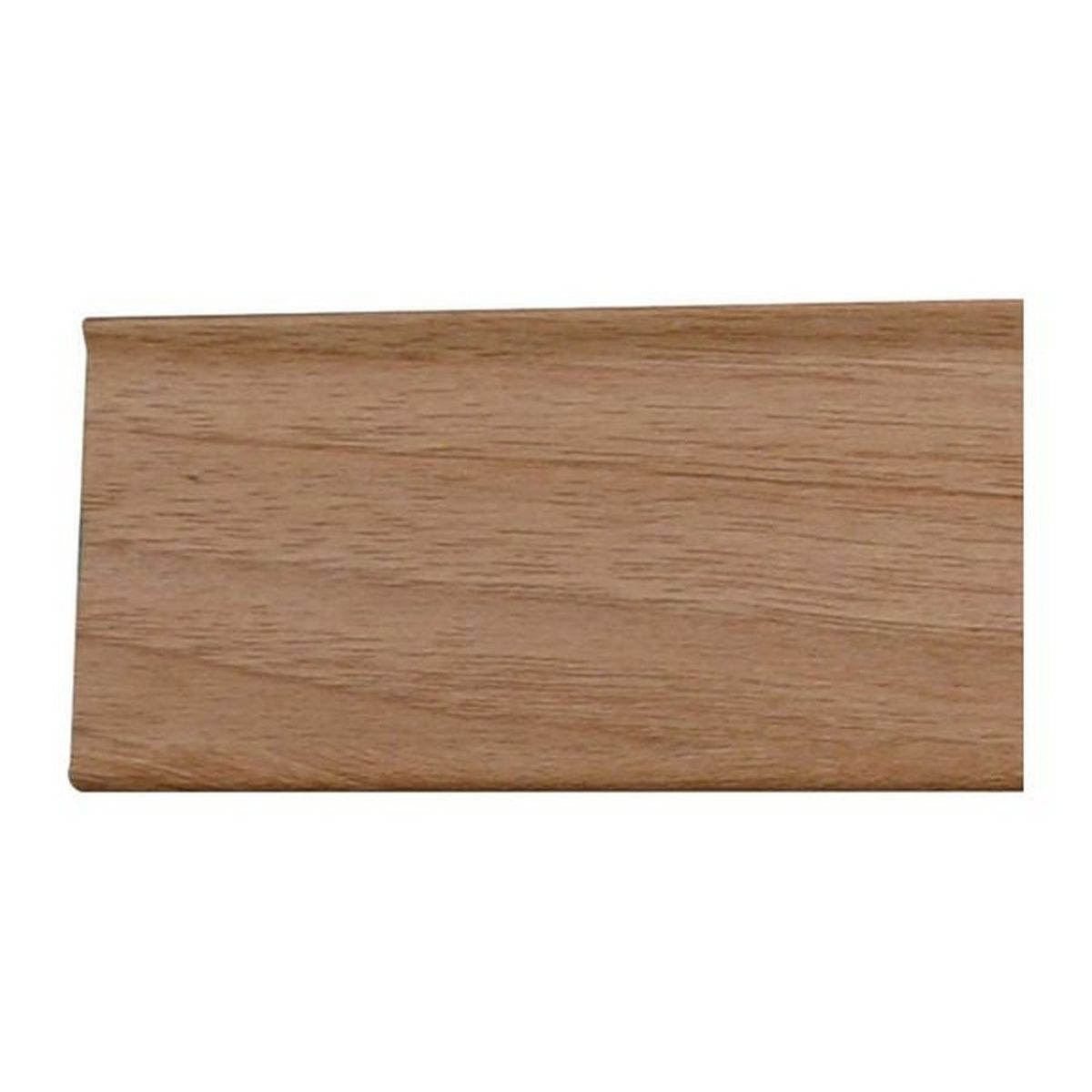 Self Adhesive PVC Skirting Walnut Finish, 2.5M, 48mm