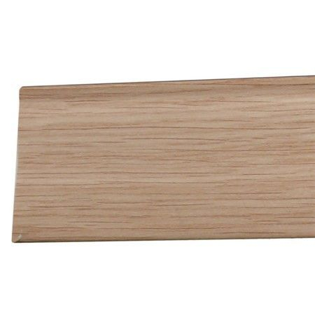 Self Adhesive PVC Skirting Light oak finish, 2.5M, 48mm