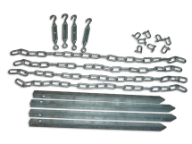 Complete Chain Down Kit For Shingle Base Ground