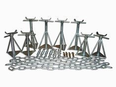 Complete Siting Kit for Concrete Base 8 Axel Pack