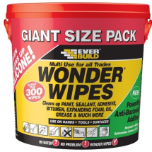 EVERBUILD GIANT WONDER WIPES ANTIBACTERIAL TUB 300 WIPES