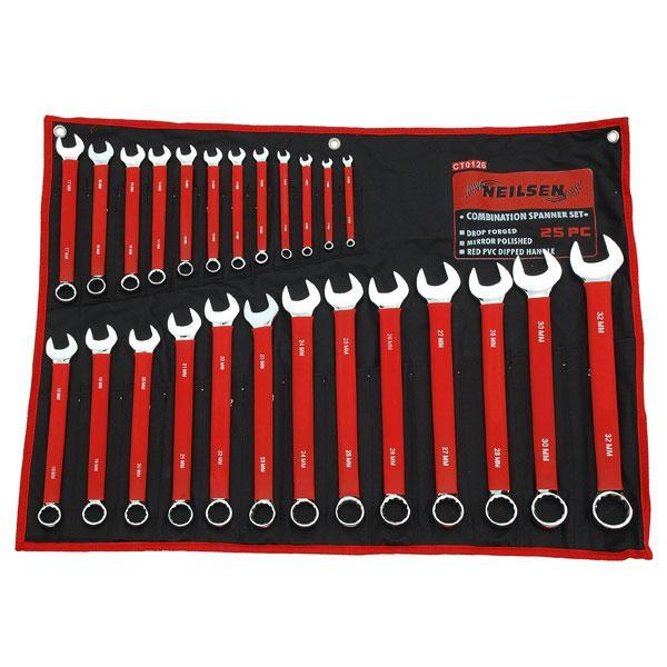 25 Pc Combination Spanner Set