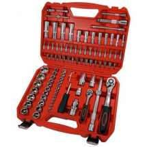 94 Piece Socket Set 1/4 - 1/2 Inch Drive + Accessories