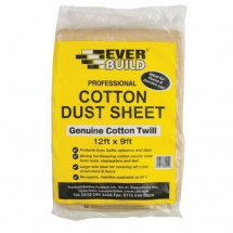 Everbuild Genuine cotton Dust Sheet 12 x 9