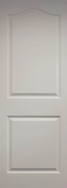 Dee Moulded 2 panel door with curved top moulding