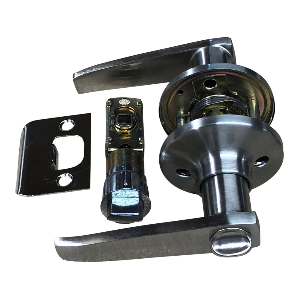 Satin Stainless Privacy Handle Set with 25mm Latch