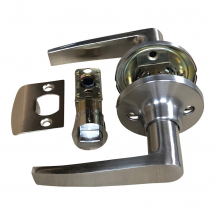Satin Stainless Passage Handle Set with 25mm Latch
