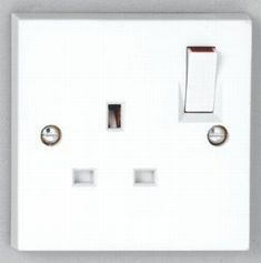 1 gang 13A Switched Socket - White