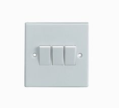 3 gang 2 way 10A Plate Switch - White