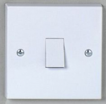 1 gang 1 way 10A Plate Switch - White