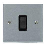 Satin Chrome 1 gang 2 Way 10AX Rocker Switch