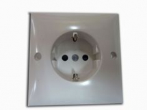 Single Euro socket - White