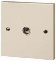single aerial socket Beige