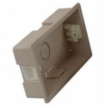 Double Beige cavity back box 25mm deep