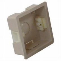 Single Beige cavity back box 25mm deep