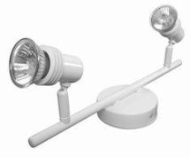 GU10 Twin Spotlight Bar White