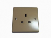 1 gang 13A Unswitched Socket - Beige