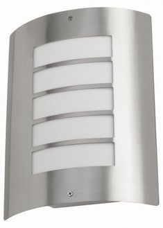 Exterior wall light - brushed chrome