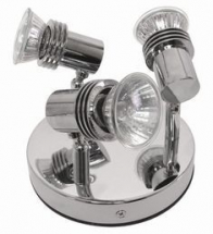 GU10 Triple Spotlight Plate Polished Chrome
