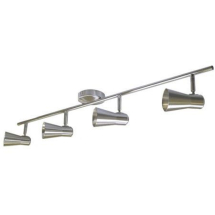 4 Lamp Spot Light Rail Brushed Satin Finish