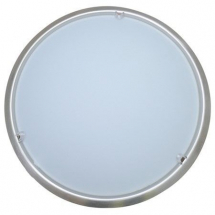 Round Internal ceiling light in Matt Chrome 265mm